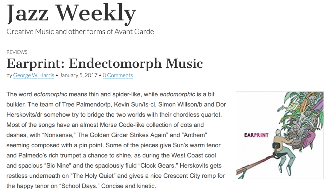 earprint endectomorph music chordless quartet review by jazz weekly